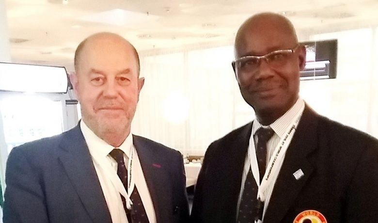 Mr Espinos WKF President with Mr Souleymane Gaye