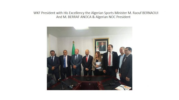 WKF President with His Excellency the Algerian