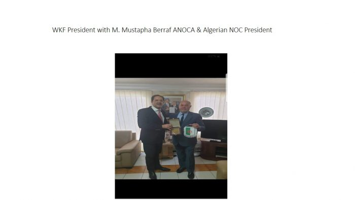 WKF President with M