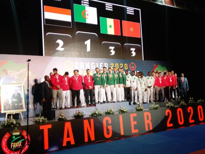 Medal ceremony Team Kumite Tangier 2020